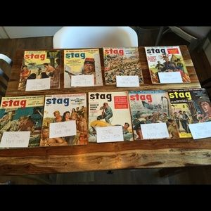 Vintage Stag Men's Magazines, from 1958